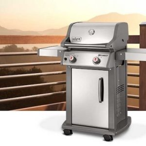 Weber Spirit S210 Liquid Propane Gas Grill, Stainless Steel, Model 46100001