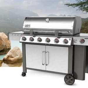 Weber Genesis II LX S-640 Natural Gas Grill, Model 68004001 Stainless Steel