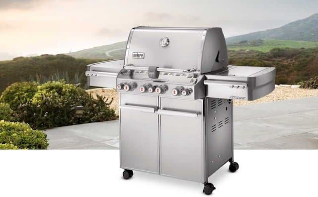 Weber Summit S-470 Liquid-Propane Gas Grill, Model 7170001 Stainless Steel