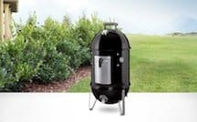 Weber Smokey Mountain Cooker 14-Inch Charcoal Smoker, Model 711001 Black