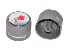 Weber 91537 Set of 2 Replacement Control Knobs for Summit Grills